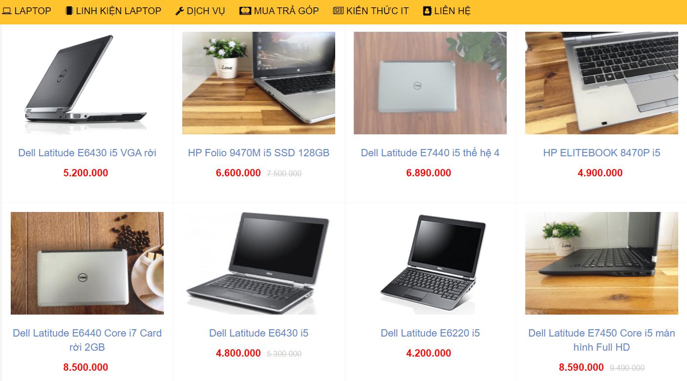 laptop cũ Cần Thơ